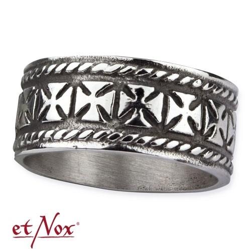 """etNox - Ring """"Iron Cross"""" Edelstahl"""