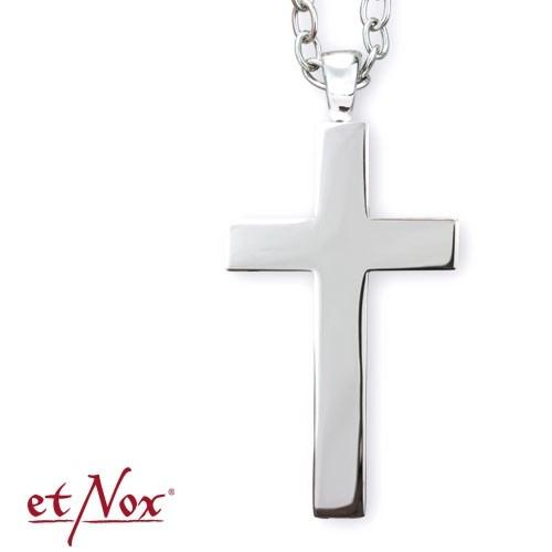"""etNox - Anhänger """"Big Plain Cross"""" Edelstahl"""
