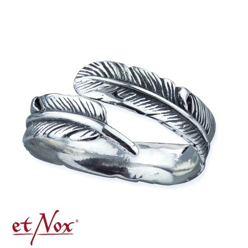 "etNox - Ring ""Silver Feather"" 925 Silber"