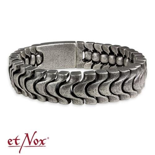 """etNox - Armband """"Antique steel bracelet"""" Edelstahl"""