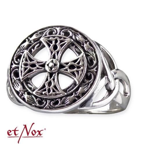 """etNox - Ring """"Celtic Cross"""" Edelstahl"""