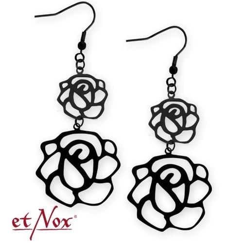 """etNox - Ohrringe """"Flower"""" Edelstahl"""