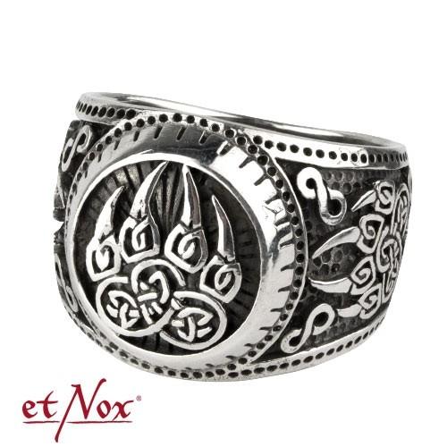 """etNox-Ring """"Bärentatze"""" 925 Silber"""