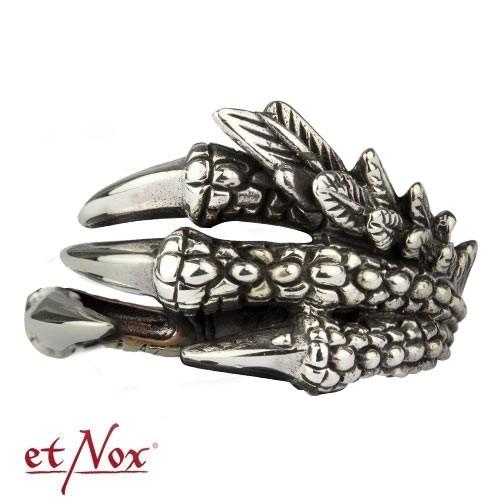 "etNox - Ring ""Drachenklaue"" Edelstahl"