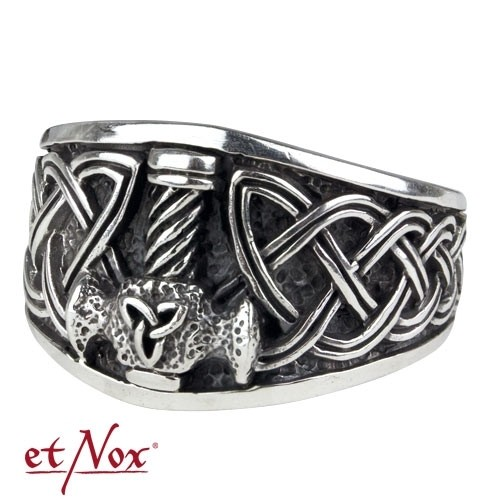 "etNox - Ring ""Thors Hammer"" 925 Silber"