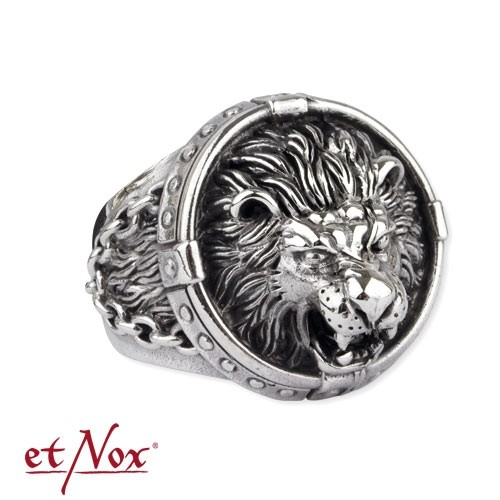 "etNox - Ring ""Löwe"" 925 Silber"