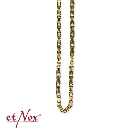 etNox - Königskette Edelstahl, 0,4 x 60 cm eckig, goldfarben
