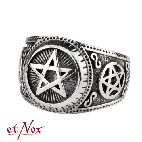 "etNox - Ring ""Pentagramm"" 925 Silber"