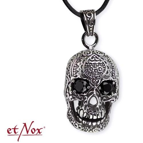 """etNox-Anhänger """"Black Eyed Skull"""" Edelstahl"""