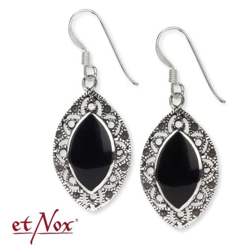 """LuxXL Ohrringe """"Onyx Ornament"""" 925 Sterling Silber"""