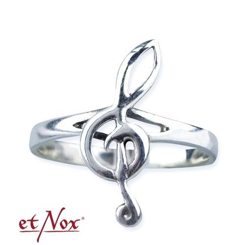 "etNox - Ring ""Notenschlüssel"" 925 Silber"