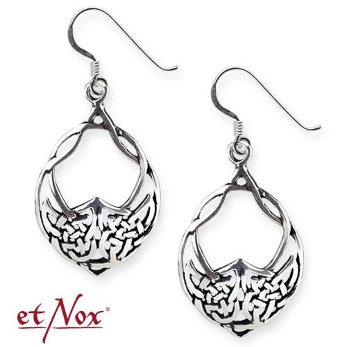 """etNox-Ohrringe """"Keltischer Knoten"""" 925 Silber"""