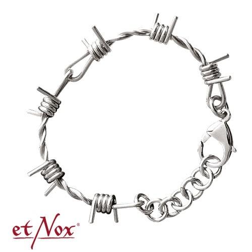 """etNox - Armband """"Stacheldraht"""" Edelstahl"""