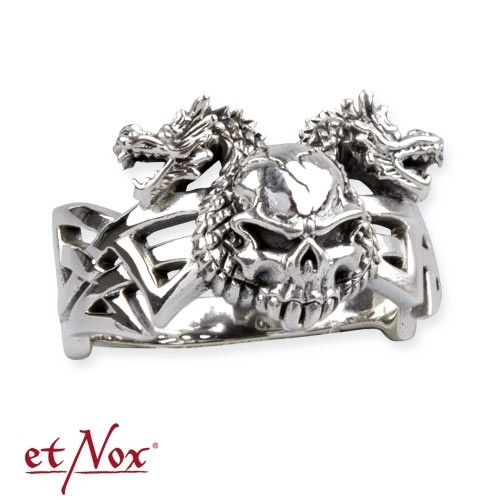 "etNox - Ring ""Dragon Skull"" 925 Silber"