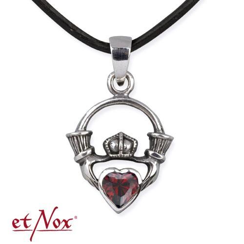 """etNox-Anhänger """"Claddagh"""" 925 Silber mit Zirkonia"""