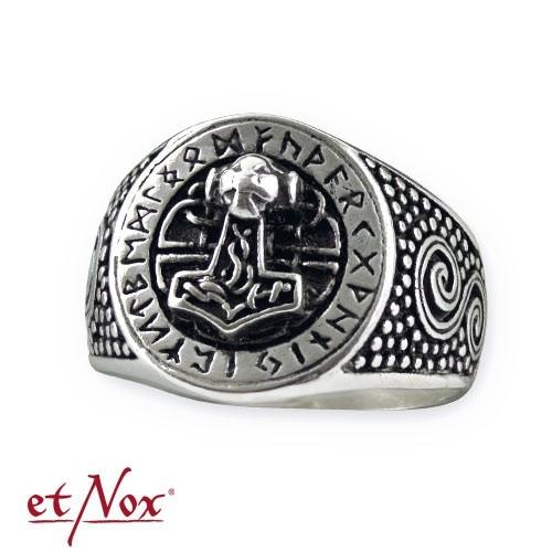 "etNox-Ring ""Thors Hammer"" 925 Silber"