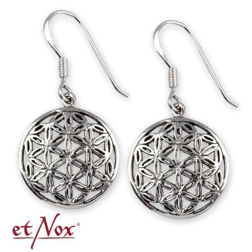 """etNox-Ohrringe """"Blume des Lebens"""" 925 Silber"""