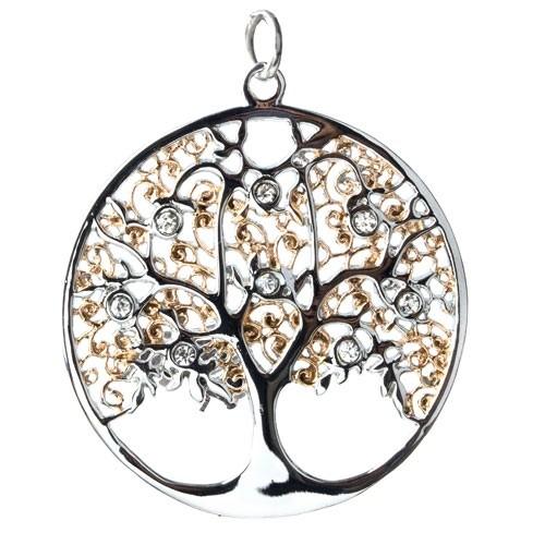 """etNox - Anhänger """"Sparkling Tree"""" Edelstahl"""