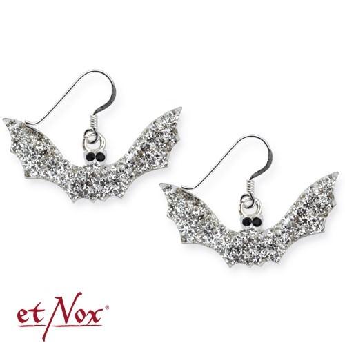 """etNox-Ohrringe """"White Bat"""" 925er Silber"""