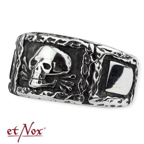 """etNox - Ring """"Signet Skull"""" Edelstahl"""