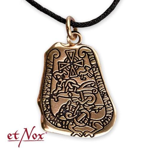 """etNox-Anhänger Bronze """"Runenstein"""""""