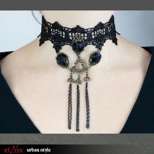 "etNox - Halsschmuck ""Black Roses Lace"""