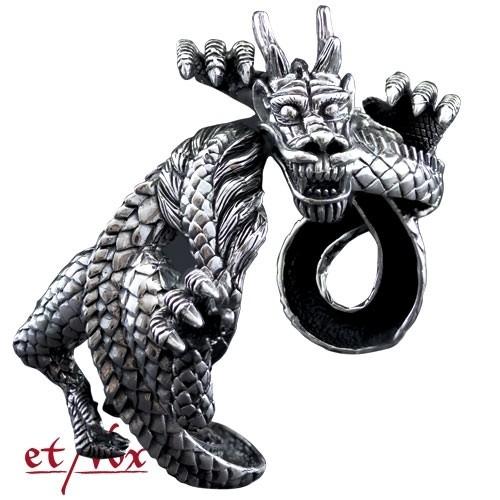 """etNox - Armreif """"Dragon bangle"""" 925 Silber"""