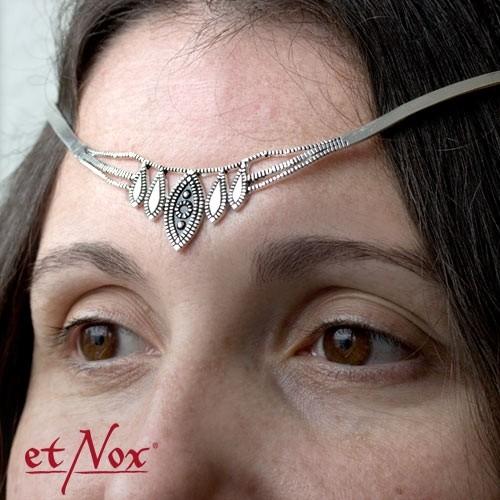 "etNox - Tiara ""Stirnreif"" Bronze versilbert"